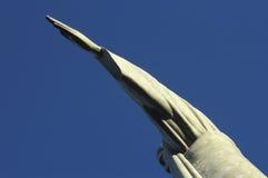 基督雕象的细节救世主,里约热内卢,胸罩 免版税库存照片