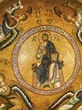 基督马赛克在巴勒莫 免版税库存图片