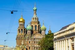 基督,圣彼德堡的复活的教会 库存图片