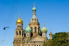 基督,圣彼德堡的复活的教会 库存照片