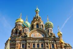 基督,圣彼德堡的复活的教会 免版税库存图片