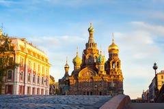 基督,圣彼德堡,俄罗斯的复活的教会 免版税图库摄影