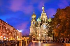 基督,圣彼德堡,俄罗斯的复活的教会 库存照片