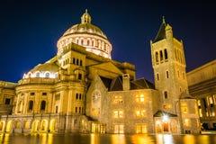 基督,基督教科学广场的科学家第一个教会  库存图片