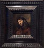 基督, 1648,伦布兰特头  免版税库存图片