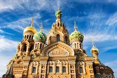 基督(溢出的血液的救主),圣彼德堡,俄罗斯的复活的教会 免版税库存图片