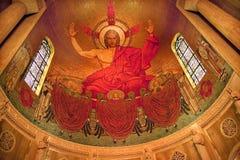 基督dc马赛克寺庙华盛顿 免版税库存照片