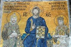 基督hagia伊斯坦布尔耶稣马赛克索非亚 免版税库存图片