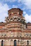 基督Pantocrator五颜六色的墙壁老镇Nessebar教会  库存图片