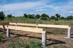 基础建筑 未完成的木屋 免版税图库摄影