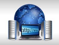基础设施互联网 皇族释放例证