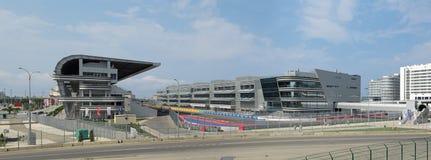 基础设施F1俄语格兰披治索契 免版税库存图片