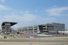 基础设施F1俄语格兰披治索契 库存图片
