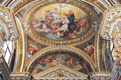 基耶萨二圣玛丽亚sopra manerva 免版税库存图片