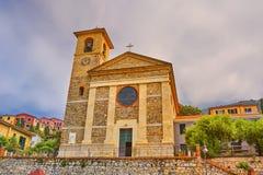 基耶萨史特拉Maris -玛丽` s星教会- Tellaro 免版税图库摄影