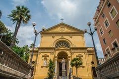 基耶萨dei Cappuccini,教会在圣雷莫,意大利 免版税库存图片