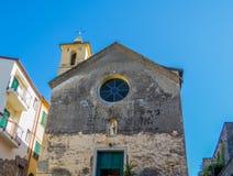 基耶萨di圣彼得罗, Corniglia 库存照片