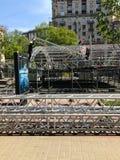 基辅乌克兰2017年为欧洲歌唱大赛做准备 库存照片