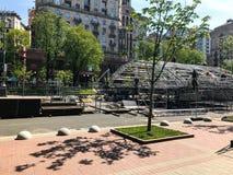 基辅乌克兰2017年为欧洲歌唱大赛做准备 免版税库存照片