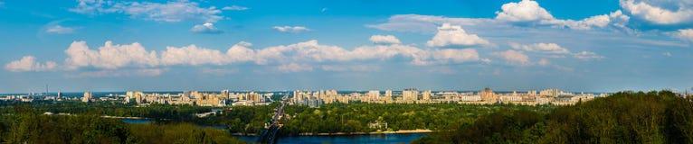 基辅全景 从高峰的看法 乌克兰 库存图片