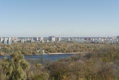 基辅在秋天 库存图片
