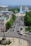 基辅的历史中心的鸟瞰图 图库摄影