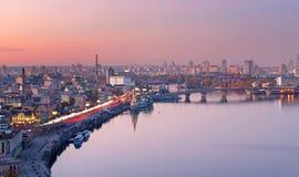 基辅空中都市风景,乌克兰 免版税图库摄影