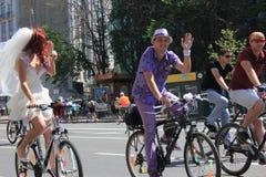 基辅自行车乘驾 免版税库存照片
