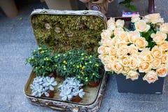 基辅花市场-第一朵城市花公平在基辅,乌克兰 2016年9月18日 免版税图库摄影