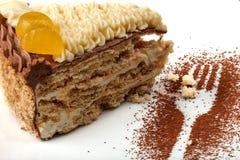 基辅蛋糕一个新片断  免版税库存图片