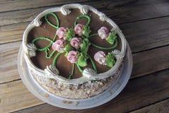 基辅蛋糕 顶视图 库存照片