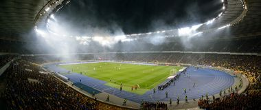 基辅足球竞技场,全景 免版税库存图片
