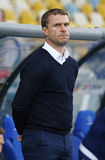 基辅迪纳摩Sergiy列布罗夫的主教练 免版税库存照片
