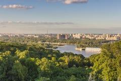 基辅都市风景视图 免版税库存图片