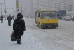 基辅降雪 免版税库存图片