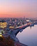 基辅鸟瞰图,乌克兰 图库摄影