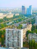 基辅鸟瞰图,乌克兰 库存图片