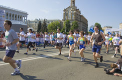 基辅,三维国际马拉松 免版税图库摄影