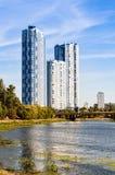 基辅,乌克兰看法  第聂伯河的银行 库存图片