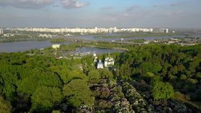 基辅,乌克兰空中寄生虫英尺长度  股票录像