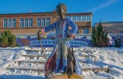 基辅,乌克兰美妙的雕象  库存图片