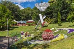 基辅,乌克兰花展示风景公园在基辅 构成Da 图库摄影