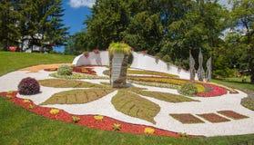基辅,乌克兰花展示风景公园在基辅 compositio 库存照片