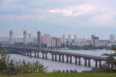基辅,乌克兰鸟瞰图  免版税库存照片
