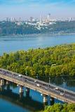 基辅,乌克兰鸟瞰图  库存照片