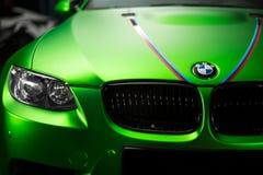 基辅,乌克兰- 14可以2014年:BMW M3调整sportcar 库存图片
