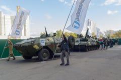 基辅,乌克兰- 2017年10月13日:乌克兰生产的军用设备 免版税库存图片