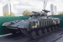 基辅,乌克兰- 2017年10月13日:乌克兰被设计的坦克支持机器 图库摄影