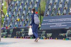 基辅,乌克兰- 2018年4月22日:在2014年对革命的受害者的纪念品 免版税图库摄影