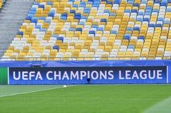 基辅,乌克兰- 2016年10月19日:在ba的欧洲联赛冠军杯商标 免版税图库摄影